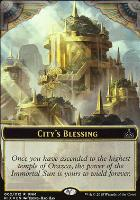 Promotional: City's Blessing Token // Elemental Token (FNM Foil)