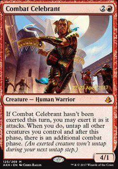 Promotional: Combat Celebrant (Prerelease Foil)