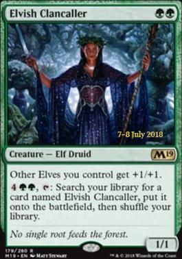 Promotional: Elvish Clancaller (Prerelease Foil)