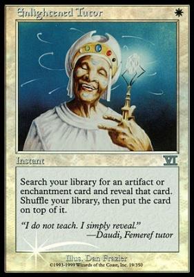 Promotional: Enlightened Tutor (Arena Foil)