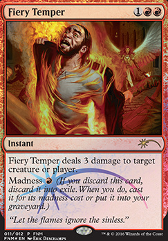Promotional: Fiery Temper (FNM Foil)