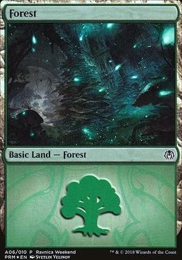 Promotional: Forest (Ravnica Weekend - A06 Foil)