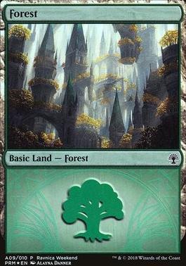 Promotional: Forest (Ravnica Weekend - A09 Foil)