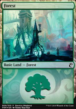 Promotional: Forest (Ravnica Weekend - B09 Foil)