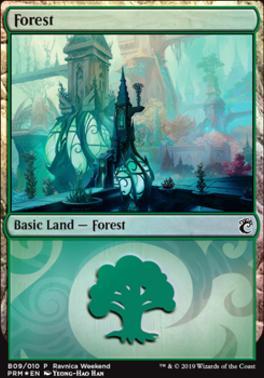 Promotional: Forest (Ravnica Weekend - B09 Foil)