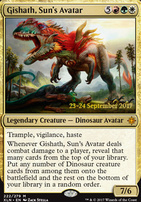 Promotional: Gishath, Sun's Avatar (Prerelease Foil)