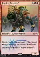 Promotional: Goblin Warchief (FNM Foil '16)