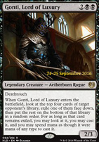 Promotional: Gonti, Lord of Luxury (Prerelease Foil)