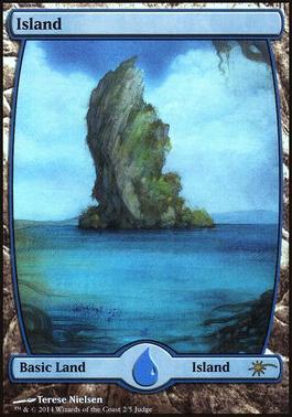 Promotional: Island (Full-art Judge Foil)