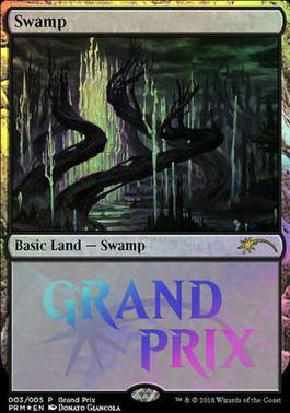 Mtg grand Prix Basic Land Island foil
