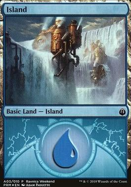 Promotional: Island (Ravnica Weekend - A03 Foil)