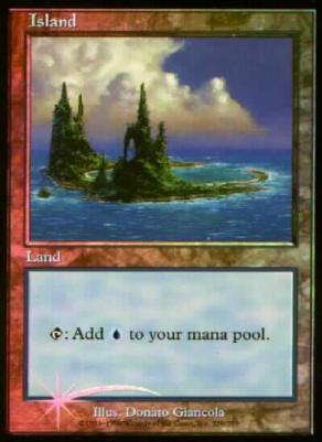 Promotional: Island (Urza's Saga Arena Foil NO SYMBOL)
