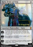 Promotional: Karn, Scion of Urza (Prerelease Foil)