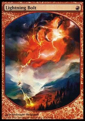 NM Lightning Bolt Full Art Promo Magic-Fest 2019 FOIL