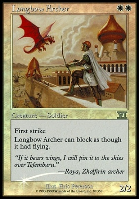Promotional: Longbow Archer (FNM Foil)