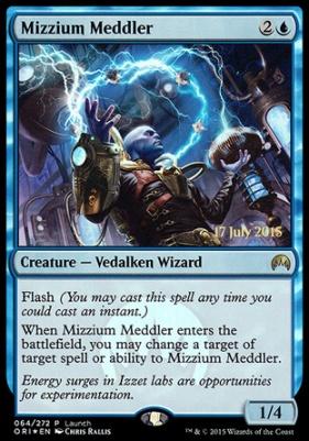 Promotional: Mizzium Meddler (Release Foil)