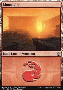 Promotional: Mountain (Ravnica Weekend - A07 Foil)