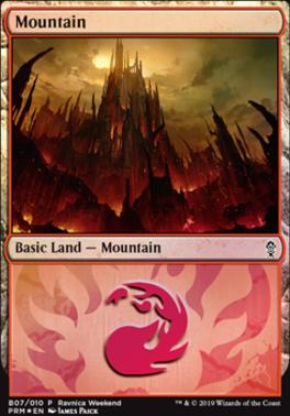 Promotional: Mountain (Ravnica Weekend - B07 Foil)