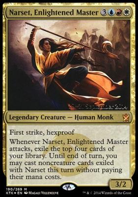 Promotional: Narset, Enlightened Master (Prerelease Foil)