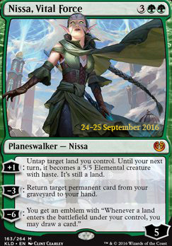 Promotional: Nissa, Vital Force (Prerelease Foil)