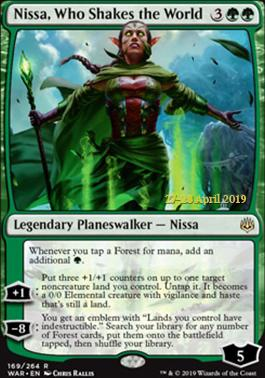 Promotional: Nissa, Who Shakes the World (Prerelease Foil)