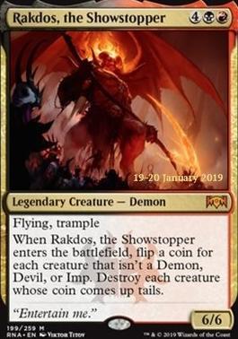 DEMONLORD BELZENLOK NM mtg Dominaria Black Elder Dragon Mythic