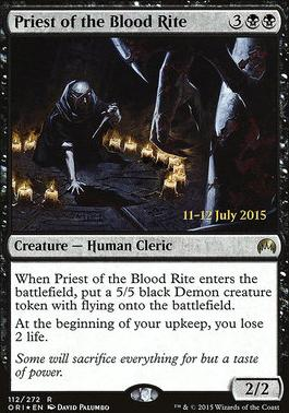 Promotional: Priest of the Blood Rite (Prerelease Foil)