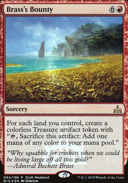 Magic The Gathering Cards | Promotional | Brass's Bounty | (Draft