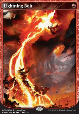 Promotional: Lightning Bolt (MagicFest Foil)