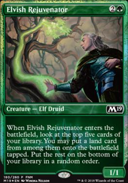 Promotional: Elvish Rejuvenator (FNM Foil)