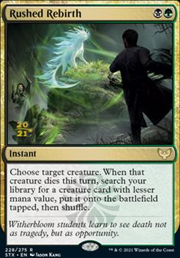 Promotional: Rushed Rebirth (Prerelease Foil)
