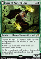 Promotional: Sage of Ancient Lore (Prerelease Foil)