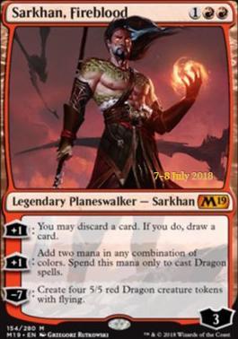 Promotional: Sarkhan, Fireblood (Prerelease Foil)