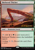 Promotional: Sheltered Thicket (Prerelease Foil)