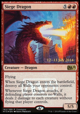 Promotional: Siege Dragon (Prerelease Foil)