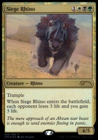 Promotional: Siege Rhino (Clash Pack Foils)