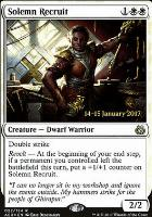 Promotional: Solemn Recruit (Prerelease Foil)
