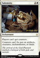Promotional: Solemnity (Prerelease Foil)