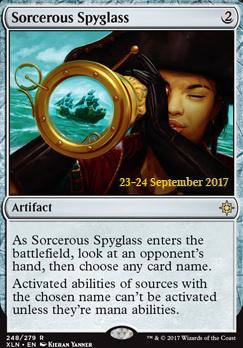 Promotional: Sorcerous Spyglass (Prerelease Foil)