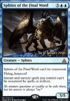 Promotional: Sphinx of the Final Word (Prerelease Foil)