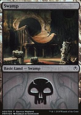 Promotional: Swamp (Ravnica Weekend - A05 Foil)