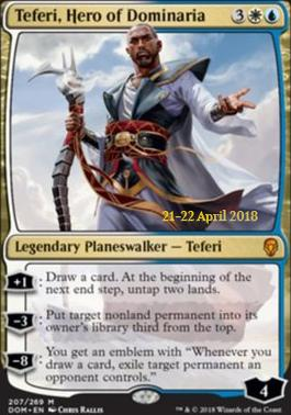 Promotional: Teferi, Hero of Dominaria (Prerelease Foil)