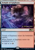 Promotional: Temple of Epiphany (Prerelease Foil - M21)