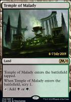 Promotional: Temple of Malady (Prerelease Foil - M20)