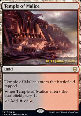 Promotional: Temple of Malice (Prerelease Foil)