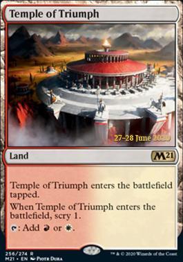 Promotional: Temple of Triumph (Prerelease Foil - M21)