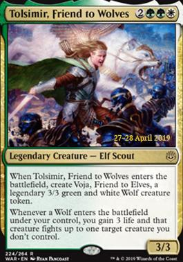 Promotional: Tolsimir, Friend to Wolves (Prerelease Foil)
