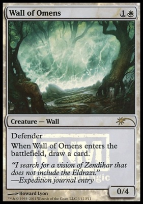 Promotional: Wall of Omens (FNM Foil)