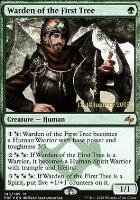 Promotional: Warden of the First Tree (Prerelease Foil)