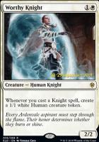 Promotional: Worthy Knight (Prerelease Foil)